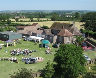Ariel view of Cromhall fete