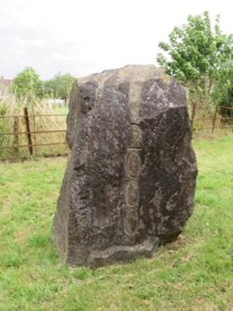 Millenium stone at Talbots End