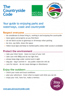 countryside code poster